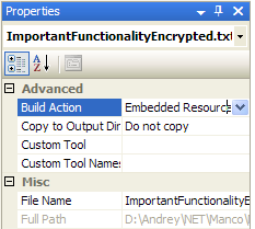 Visual Studio - Embedded Resource
